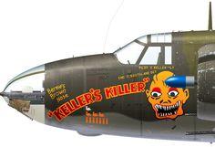 B-26B-20-MA 41-31714 KS-K 'Keller's Killer' flown by Col. Keller of the 557th BS, 387th BG