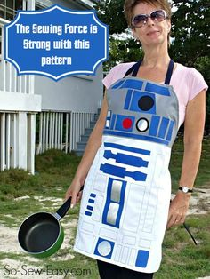 Sew your own Star Wars R2D2 style apron. May the Force be with you in the kitchen with your own custom droid apron. Celebrate your love of Star Wars.