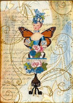 Marie Antoinette....pretty..and a pattern for layering cards