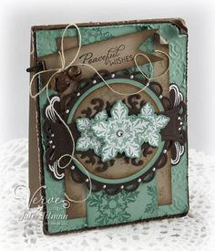 Julee Tilman   vervestamps.blogspot.com   Peaceful Wishes using the Glad Tidings and Love Story sets from Verve. #vervestamps #cardmaking