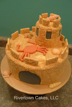 Sand Castle Cake by Rivertown Cakes, via Flickr