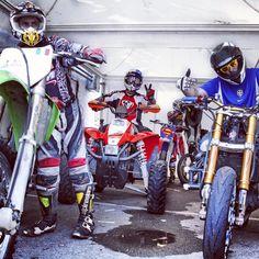 Team stunt rider motor show tour Italia