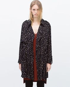 Image 1 of PRINTED FLOWING TRENCHCOAT from Zara