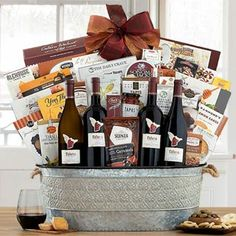 Wine Gift Baskets - Talaria Wine Gift Basket Wine Gift Baskets, Thanksgiving Gifts, Wine Gifts, Wine Baskets