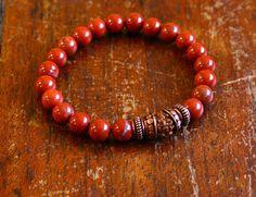 Wrist Mala Prayer Beads Mens/Unisex Size Yoga Jewelry by BijaMalas