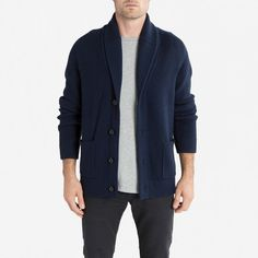 The Chunky Knit Cardigan - Navy - Everlane