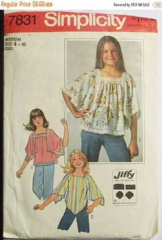 40% OFF SALE 1970s Vintage Sewing Pattern Simplicity 7831