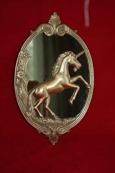 "UNICORN Mirror Art Nouveau Leonard Silver Mfg Co Brass13"" x 8 1/4"" Gold EUC Vtg  http://www.ebay.com/itm/271417691372?ssPageName=STRK:MESELX:IT&_trksid=p3984.m1555.l2649"