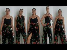 5 MANEIRAS DE USAR CALÇA ENVELOPE - YouTube Pool Fashion, Diy Fashion, Ideias Fashion, Fashion Dresses, Estilo Mod, Wrap Pants, Infinity Dress, Diy Clothing, Dressmaking