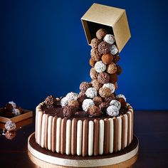 Cascading Chocolate Truffle Cake