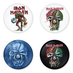 "IRON MAIDEN 1.75"" Badges Pinbacks, Mirror, Magnet, Bottle Opener Keychain http://www.amazon.com/gp/product/B00GO9PEY8"
