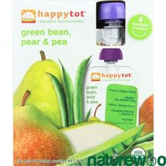 Happy Tot - 1196260 - Toddler Food - Organic - Green Bean Pear and Pea - 4/4.22oz - case of 4