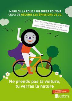 Campagne éco-gestes, thématique mobilités. Semaine 2 : les transports doux UTBM - service communication / DR