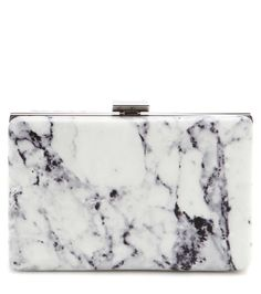 Balenciaga - Printed leather box clutch - Printed with a chic marble design, this clutch from Balenciaga is a sublime piece to carry in your hand day or night. The smooth leather is accented with silver and gold-tone hardware for a polished look. Let it finish an all-black outfit after dark. seen @ www.mytheresa.com
