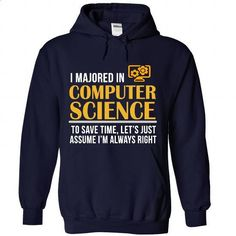 MAJORED IN COMPUTER SCIENCE  - vintage t shirts #logo tee #tshirt typography