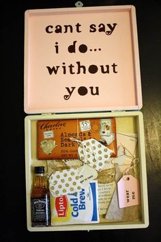 bridesmaid gift box. Love this idea!