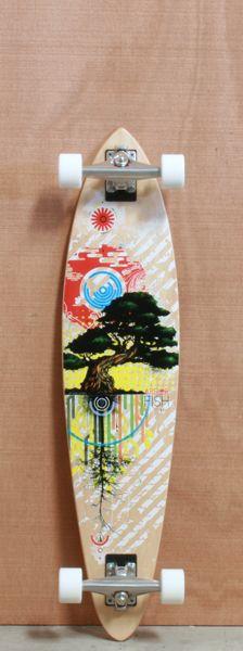 "Arbor 38"" Fish Koa Longboard Complete"