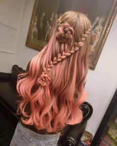 Light Brown And Pink Ombre Hair 95416 Loadtve