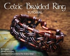 Wire wrapped rings 155303887194850998 - Celtic Knot Ring Wire Wrap Tutorial DIY PDF Book Lesson How to Make Step by Step Pattern Weave Weavi Source by etsy Wire Tutorials, Jewelry Making Tutorials, Ring Tutorial, Bracelet Tutorial, Celtic Knot Tutorial, Wire Rings Tutorial, Wire Wrapped Bracelet, Wire Wrapped Rings, Wire Bracelets