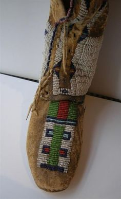 4a0f334bda5b Central Plains Beaded High-top Girl s Moccasins   Sale Number 2879B, Lot  Number 53   Skinner Auctioneers