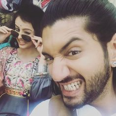 Two expressive ppl teething away! coz starts in a week! Kunal Jaisingh, Shrenu Parikh, Dil Bole Oberoi, Surbhi Chandna, Drama Queens, Celebs, Celebrities, Beautiful Couple, Bollywood