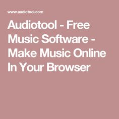 Audiotool - Free Music Software - Make Music Online In Your Browser