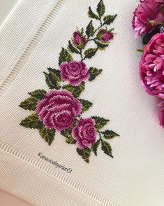 Amazing retro embroidered / tablecloth / 13 x 13 … – Flower İdeas Cross Stitch Needles, Cross Stitch Rose, Cross Stitch Borders, Cross Stitch Flowers, Cross Stitch Designs, Cross Stitching, Cross Stitch Embroidery, Hand Embroidery, Cross Stitch Patterns