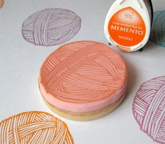 Ball of Yarn  Hand Carved Rubber Stamp by hoffeeandanuffin on Etsy, $14.00