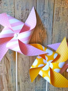 Pinwheels  Pink Lemonade Party  Set of 8 Pinwheels by HalosHaven, $23.40