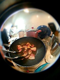 cured meat in the pan umami^10000