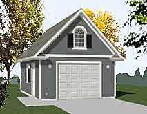 Full two story 1 car garage plan has compact footprint garage single car garage plans one car garage plans by behm design malvernweather Image collections