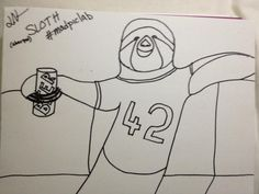 """""""Sloth (b/w in sharpie) Group Art Projects, Photo A Day, Sharpie, Sloth, Lab, Sloth Animal, Sloths, Labs, Permanent Marker"""