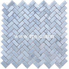 Bianco Carrara Herringbone 5/8 x 1 1/4 HB-36