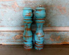 Turquoise Salt Shaker and Pepper Grinder by turquoiserollerset, $23.00
