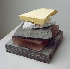 CAIRN (2008) plaster, pigment, resin, and stainless steel (five units)