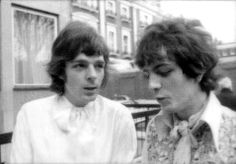 Rick Wright and Syd Barrett// these two are beautiful
