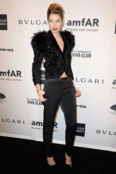 Red carpet de amfAR New York Gala 2014: Jessica Hart
