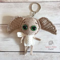 Dobby Keychain Free Crochet Pattern