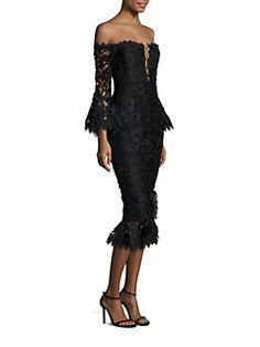 NICHOLAS - Lace Off-The-Shoulder Dress