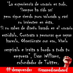 #desaprender con Evan Williams, cofundador de Twitter.