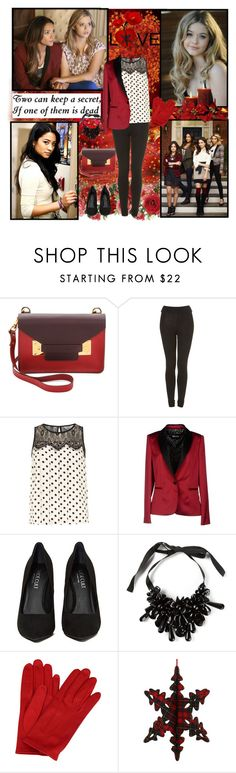 """""""Alison DiLaurentis and Emily Fields"""" by sarasnowbird ❤ liked on Polyvore featuring Episode, Sophie Hulme, Topshop, Dorothy Perkins, Just Cavalli, P.A.R.O.S.H. and Rachel Comey"""
