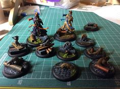Sewer bases for Malifaux wargaming