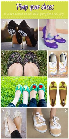 8 great shoe DIY projects