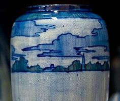 1901 High-glaze Newcomb Pottery Vase. Paula Burch-Celentano photograph. Made using local clays dug near Lake Pontchartrain, inspired by regional flora and fauna, one of a kind, hand-decorated. Artist not identified on the post. (Information taken from a description of early 20th Century Newcomb Pottery found in the Louisiana State Museum reference materials by Courtney Barnes, Style Court blog)