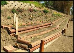 Image result for raised beds on a hill