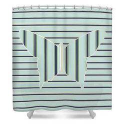Butterfly Art Deco Op art (Shower Curtain) by Cecely Bloom