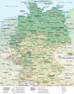 Map Of Germany With States And Cities Germany Pinterest City - Germany map printable