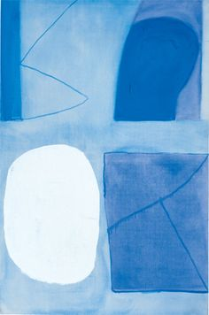 William Scott, Dark Blue, Light Blue and White, 1964, Oil on canvas, 186 × 122 cm / 73 × 48 in, Whereabouts unknown