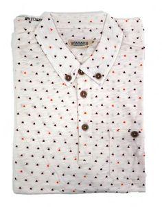 Farah 1920 Men's Haverford Polo Shirt Cabernet Off White