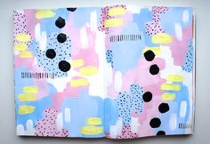 My art journal page on Easter. I love pastel colors. This one is inspired by Unikitty from LEGO. By craftycreator